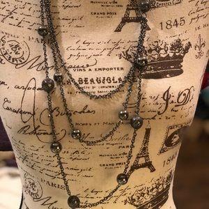 Silver / gunmetal necklace